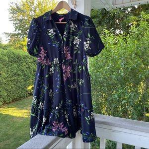 NWT Kensie navy floral puff sleeve dress sz 4